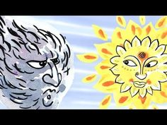 "The Wind and the Sun: Learn French with subtitles - Story for Children ""BookBox.com"" - YouTube"