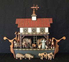 Hand carved wooden Noah's Ark by ArksAndAngelsMDallas on Etsy, $475.00