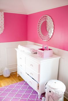 Hot Pink Nursery with bold colors