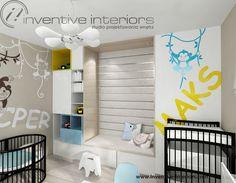 Projekt pokoju dziecięcego Inventive Interiors - tapicerowane siedzisko i naklejki