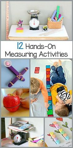 12 Hands-On Measurement Activities for Kids. Fun ways to practice measuring…