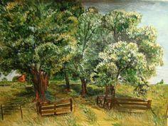 GALERIA PALOMO MARIA LUISA: Entrada a mi lugar Vineyard, Painting, Outdoor, Art, Clouds, Earth, Country, Entryway, Scenery