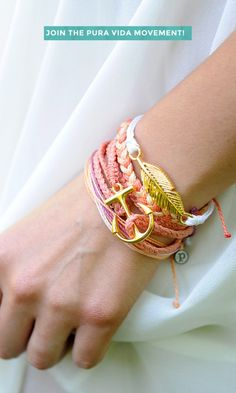 Gold Anchor Bracelets and Accessories for Summer