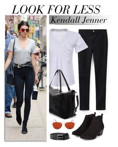 """""""Look For Less: Kendall Jenner"""" by genuine-people ❤ liked on Polyvore featuring GAS Jeans, MANGO, GetTheLook, LookForLess, StreetStyle, kendalljenner and CelebrityStyle"""