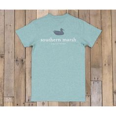 Southern Marsh Authentic Heather Tee - Moss Blue