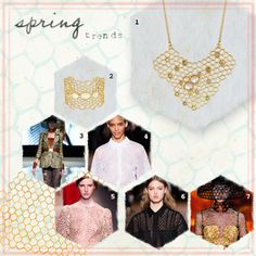The Honeycomb-trend was all over the Spring 2013 runways.