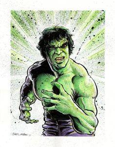 Lou Ferrigno Hulk Comic Art