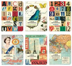 Bard Judith says:  Loving Cavallini style!   Numbers, typography, birds, Eiffel Tower, old maps.... sure, we're almost at saturation point, but I loved them all before they were chic, so I'll be faithful through their fall...