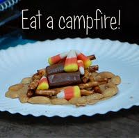 Toad's Treasures: Eat a Campfire! Camping Activites For Kids, Camping Games, Camping With Kids, Camping Ideas, Cute Food, Good Food, Kids Camping Chairs, Campfire Stories, Creative Food