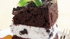 Dirt Ice Cream Cake..... Treat your family to this delicious chocolate cake layered with pudding decorated with candies; made using Betty Crocker® SuperMoist® cake mix.