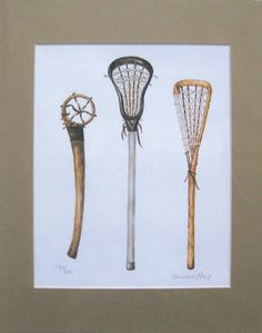 set of lacrosse sticks