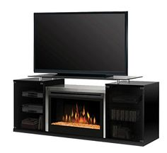 Dimplex Marana TV Stand with Electric Fireplace in Black  Glass Ember Bed >>> You can find out more details at the link of the image.