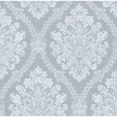 "Beacon House Home Amarissa Jacquard 33' x 20.5"" Damask 3D Embossed Wallpaper | Wayfair"