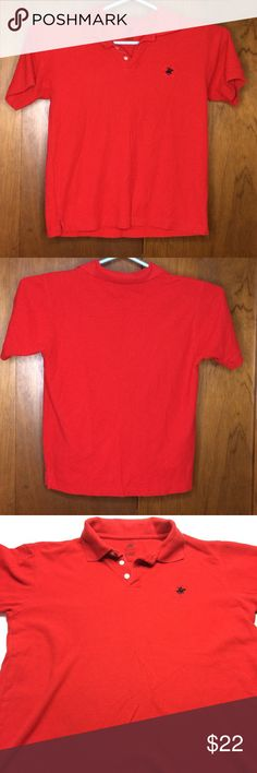 Beverly Hills Polo Club Polo Shirt Red Size Large Vibrant red Beverly Hills Polo Club polo shirt size large. Has nice logo on the chest. Beverly Hills Polo Club Shirts Polos