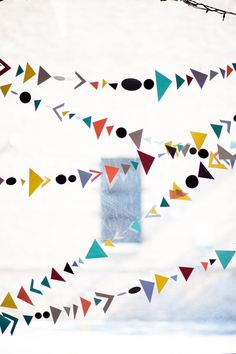 cute take on bunting  Photography by lilyredstudio.com, Event Styling by jayneweddings.com