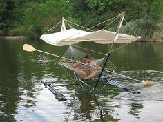 Hammock boat! - spotted at the University of California, Davis on Picnic Day 2003;  photo by tobo, via Flickr