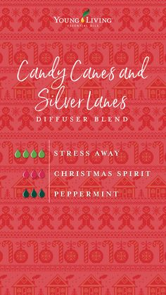 It wouldn't be Christmas without the classic candy cane! We love its festive red and white stripes that burst with delightful peppermint flavor. Try this diffuser blend for a calorie-free way to enjoy the nostalgia of this favorite holiday candy! Young Essential Oils, Essential Oils Guide, Essential Oils Christmas, Essential Oil Combinations, Essential Oil Diffuser Blends, Kombucha, Classic Candy, Holiday Candy, 12 Days