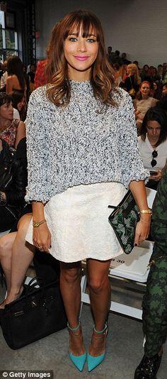 Rashida Jones attended designer Thakoon's show, part of New York Fashion Week, on Sunday
