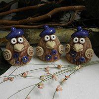 m.fler.cz zbozi?uid=91201 Owls, Easter, Pottery, Clay, Fantasy, Ceramics, Christmas Ornaments, Holiday Decor, Ideas