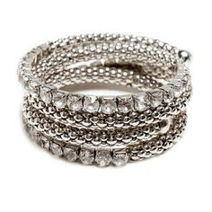 Whimsy, glam, and boldly wild textures combine in the stretchy, slinky, easy-on shimmer of the Devon bracelet. Rows of CZ stones compliment and flank braided, snakeskin-esque metal for an edgy glam appeal. Devon easily dresses up or down!   Find it on Splendor Designs