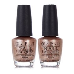 212630 OPI Worth a Pretty Penne Duo with Gift Box  QVC Price: £18.50 + P&P: £3.95  A duo of the beautiful copper shade Worth a Pretty Penne from OPI. Once you try this shade you'll probably want to keep both bottles, but you can also give one away as a fantastic present.  Contains:  2 x Worth a Pretty Penne (15ml) - rich copper with a metallic shine
