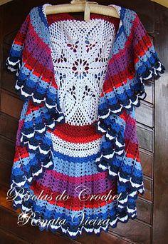 Maxi Vest crochet - Crochet Pearls *