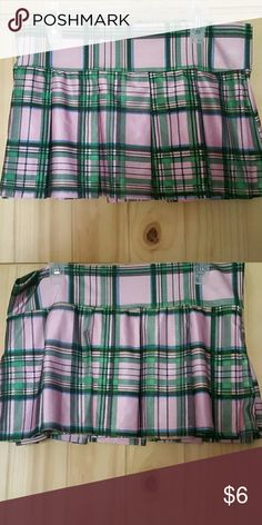 "MOVING SALE! Playful Pink Plaid Schoolgirl Skirt This is a great skirt, whether for a costume, clubbing, or ""dress-up"" lol! It's a nylon/spandex mix (85/15), so it has plenty of stretch. It has a banded top and is pleated all the way around. Have some fun with this one! Priced to go, as this won't be moved! Be Wicked Skirts Mini"