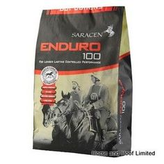 Saracen Enduro-100 20kg Saracen Enduro-100 is a high oil high fibre mix designed to meet the nutritional demands of horses taking part in high level dressage or endurance events.