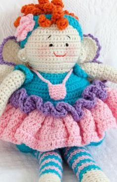Free Tooth Fairy Doll Crochet Pattern.
