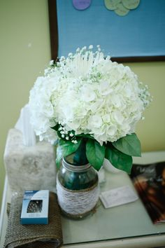 bridal bouquet hydrangeas baby's breath