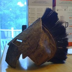 Cardboard Greek Warrior Headgear #DIY #Costume