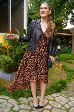 Leopard and leather make the perfect combo!