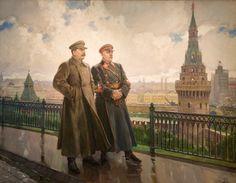 Alexander Gerasimov, Joseph Stalin and Kliment Voroshilov in Kremlin, 1938 Kandinsky, Safari, Joseph Stalin, Propaganda Art, Socialist Realism, Soviet Art, Art Moderne, Realism Art, Russian Art