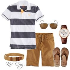 Men's Casual Summer, created by keri-cruz on Polyvore
