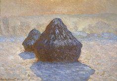 Claude MONET (1840 - 1926) Meules, effet de neige Huile sur toile, 65 x 92 cm, 1891