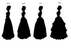 My version of a Victorian fashion timeline. It may not be correct but I think I got the basic dress shapes right. I also realize that the Victorian era ended in but 1902 fitted better wi. Victorian Era Fashion, Victorian Women, Pen Illustration, Hoop Skirt, Body Modifications, Historical Clothing, Fashion Plates, Vintage Ladies, Lady