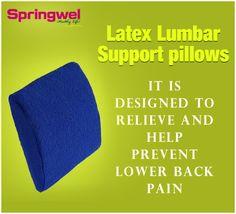 Best Mattress for #BackPain | Springwel Latex Lumber Support Pillows - #Latex #Pillow