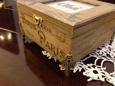 Caixa de chá Paris Rustica