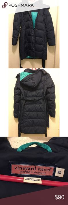 Women's Vineyard Vines Navy Parka Great condition navy parka with removable hood size XS Vineyard Vines Jackets & Coats Puffers