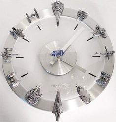 Old Star Wars vehicles turned to clock