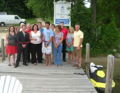 The Ribbon Cutting on our docks with Wolfeboro Jet-Ski Rentals! #Wolfeboro #VisitNH #LiveFreeNH