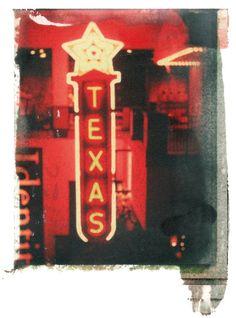 Texas Retrosigned handtouched negative image by MelindaWestSeifert, $30.00