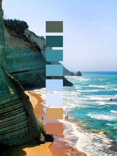 Serene palette inspired by Corfu,Greece