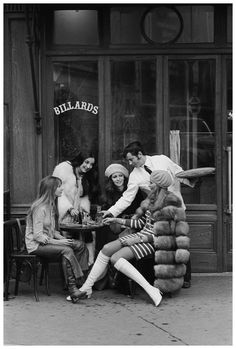 The Country Fucker, the60sbazaar: Parisian girls stop for drinks at...