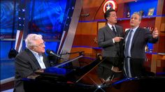 Stephen Colbert's newfound immortality inspires a show-stopping sing-along with his former guests.