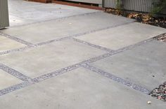 pavers with pebble joints. One of my favorite looks.