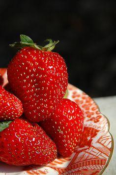 Dish of Strawberries
