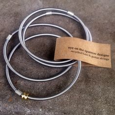 Bass String Bangles- if only they were violin strings