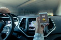 Using an iPhone in car mockup #psd #mockup #photoshop #free #iphone #smart #phone #device #tech