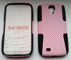 Plastik + Silikon Combination Case für Samsung Galaxy S4 / i9500 Pink